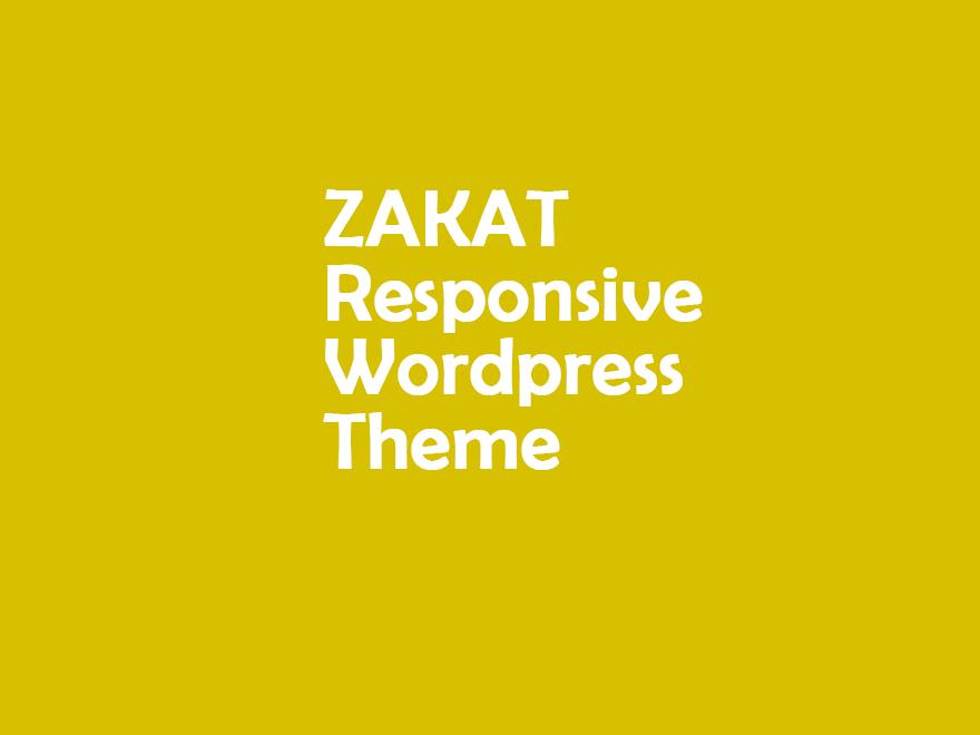 Zakat - Onepage/Multipage WordPress Charity Theme