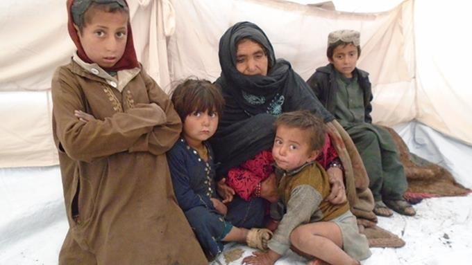 afghanistan réfugiés famille