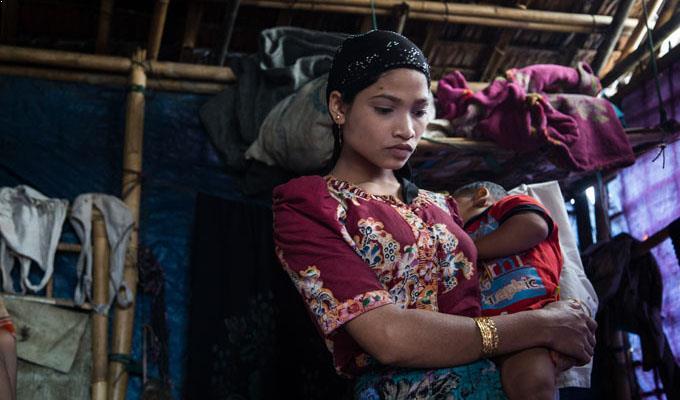 femme enfant Birmanie
