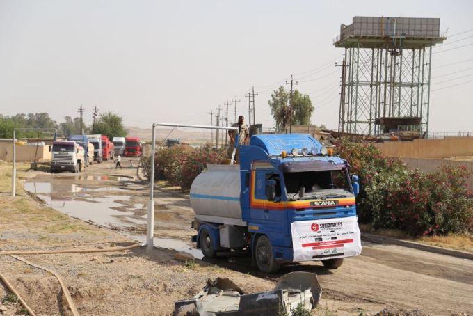 Irak Mossoul eau camion