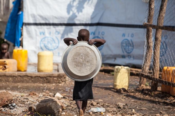Soudan du Sud enfant camp refugies eau