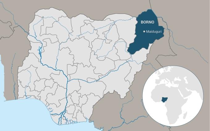 Carte Nigeria Borno 680