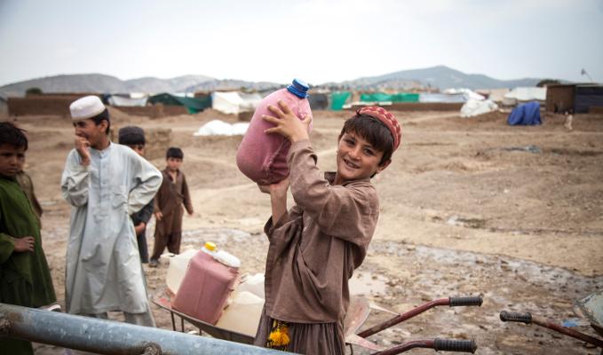 Afghanistan réfugiés enfant