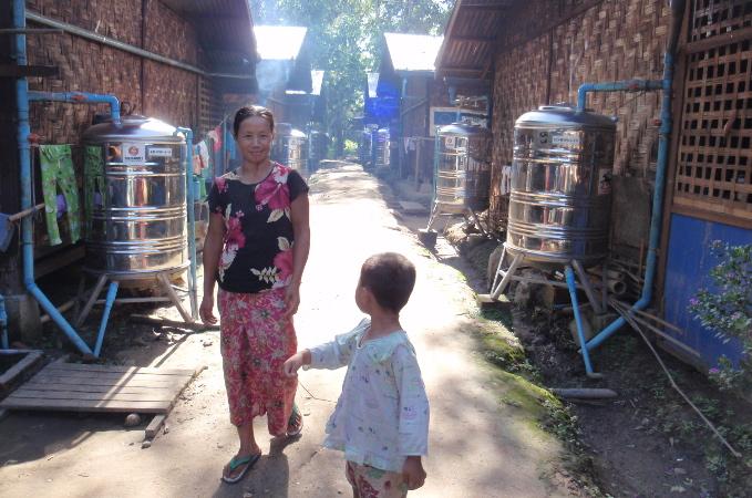 myanmar femme enfant