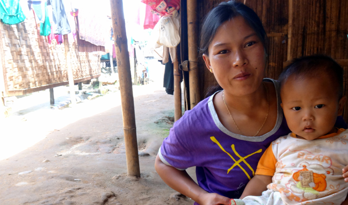 woman child myanmar