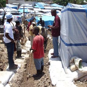 camps de déplacés à Port aux Prince, quartier Bristout-Bobin, avec Solidarités International