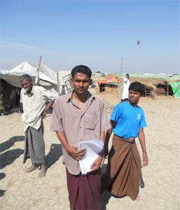 Camp de déplacés de Nget Chaung, township de Pauktaw