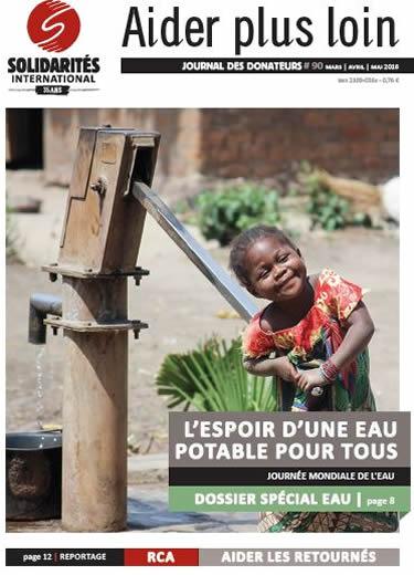 Journal des donateurs 90 de SOLIDARITÉS INTERNATIONAL