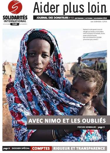 Journal des donateurs SOLIDARITÉS INTERNATIONAL