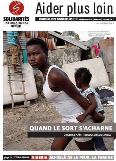Journal des donateurs n° 93 - SOLIDARITÉS INTERNATIONAL