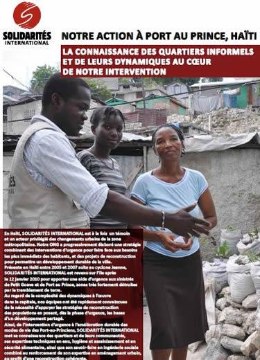 Quartiers informels et de leurs dynamiques en Haiti
