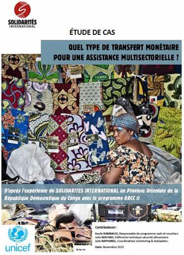 Transfert monetaire pour une assistance multisectorielle