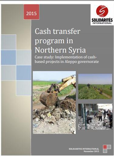 cash transfer program in northern syria