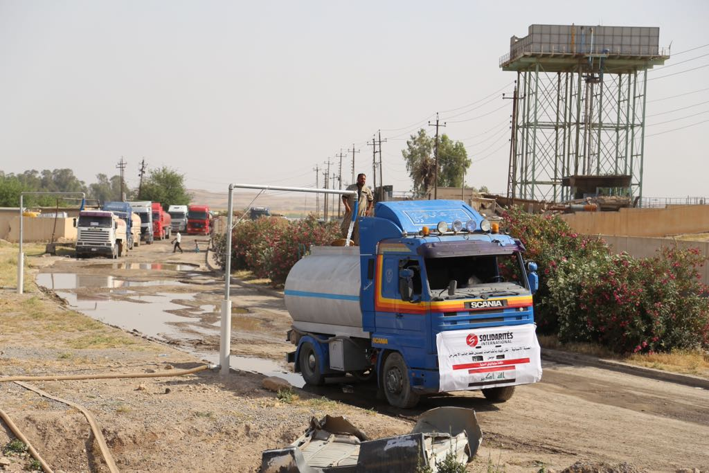water trucking mosul