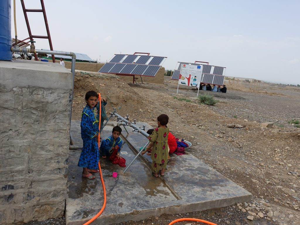 water tanks and children afghanistan
