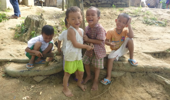 children playing in kachin