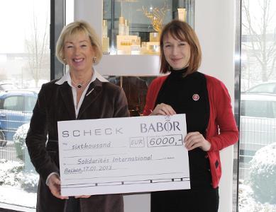 BABOR chèque solidarités international