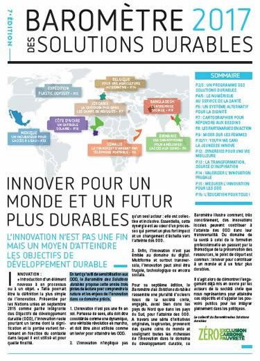 Barometre 2017 des solutions durables