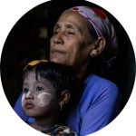 femme myanmar enfant