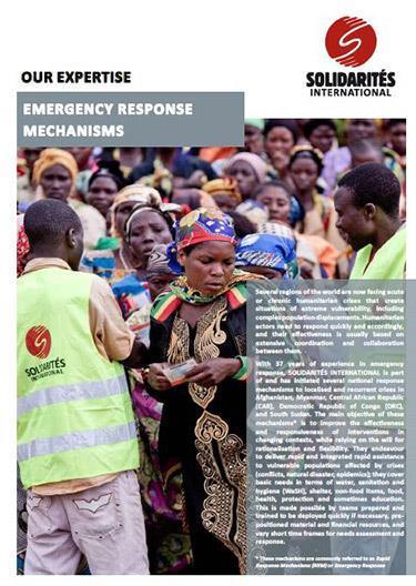 Emergency Response Mechanisms (ERM) - Expertise - SOLIDARITÉS INTERNATIONAL