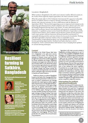 Resilient farming in Satkhira