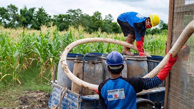 Kachin traitement des boues