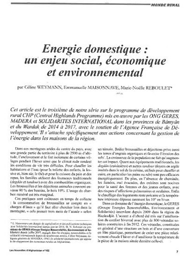 Afghanistan énergie