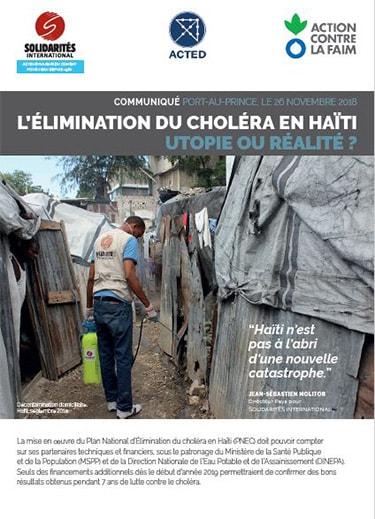 L'élimination du choléra en HaÏti