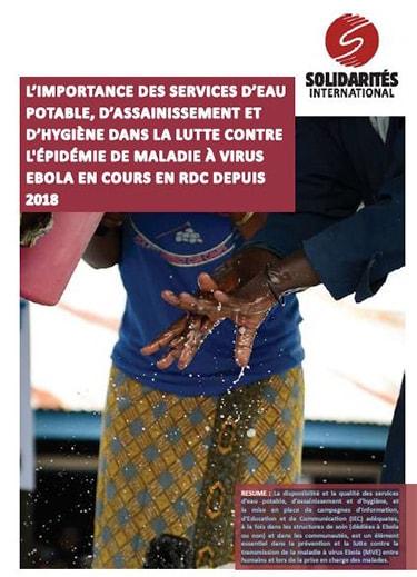 eau hygiene assainissement ebola RDC WASH
