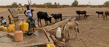 Respond with water supply in Burkina Faso