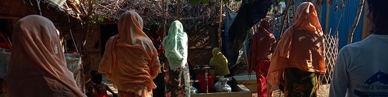 Dans les camps à Teknaf, l'anticipation du Covid-19 prime avant tout