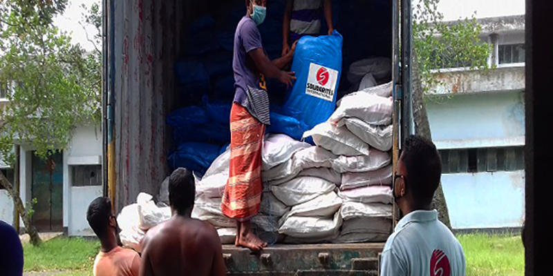 Shelter support after Amphan hurricane in Bangladesh