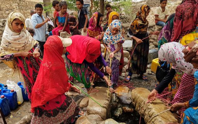 Femmes puits Yemen